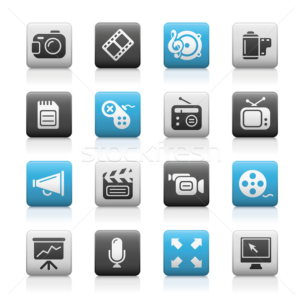 Multimedia Web Icons // Matte Series Stock photo © Palsur