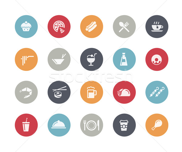 Food Icon Set 2 of 2 // Classics Series Stock photo © Palsur
