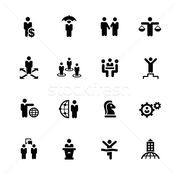 Business Success Icons // Black Series Stock photo © Palsur