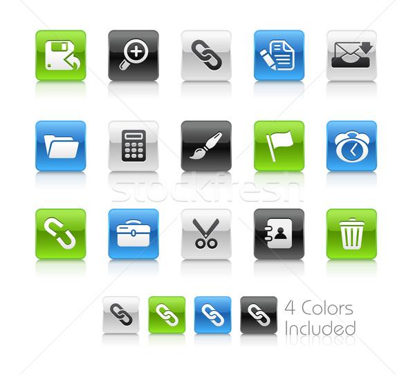 веб интерфейс чистой прибыль на акцию файла цвета Сток-фото © Palsur