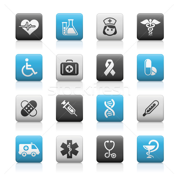 Medicine & Heath Care Icons // Matte Series Stock photo © Palsur
