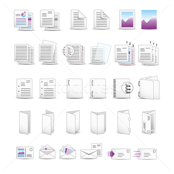 Сток-фото: печати · иконки · бумаги · искусства · письме