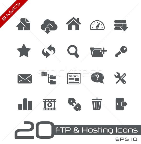 Ftp хостинг иконки вектора Сток-фото © Palsur