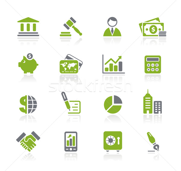 Stock photo: Business & Finance Icons // Natura Series