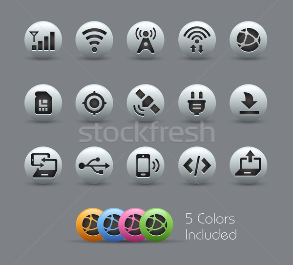 Connectivity Icons  -- Pearly Series Stock photo © Palsur