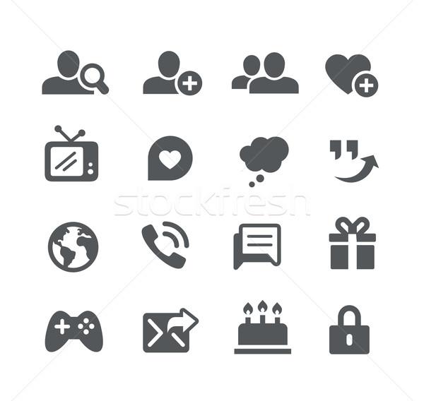 Społecznej komunikacja ikona użyteczność wektora cyfrowe Zdjęcia stock © Palsur