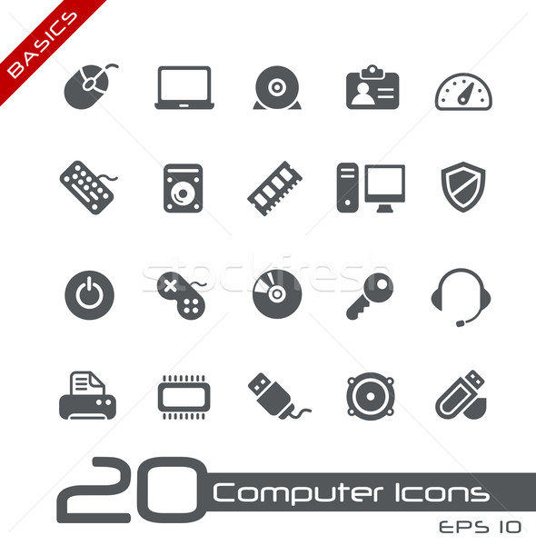 Computer Icons // Basics Stock photo © Palsur