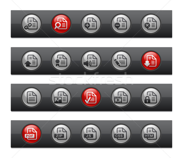 Documents - Set 1 of 2 -- Button Bar Series  Stock photo © Palsur