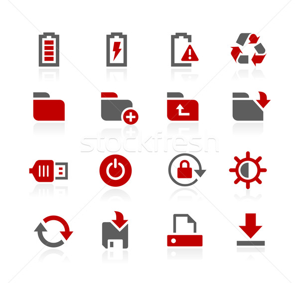Energia raktár vektor ikonok háló szoftver Stock fotó © Palsur