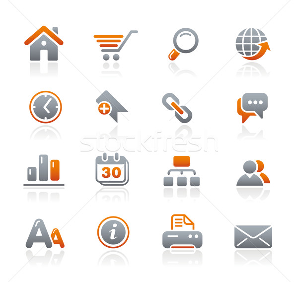 Website internet pictogrammen grafiet professionele iconen website Stockfoto © Palsur