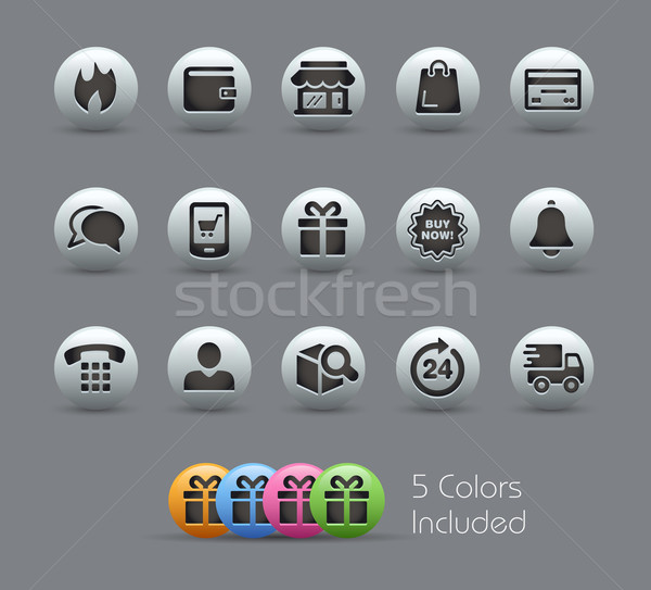 e-Shop Icons // Pearly Series Stock photo © Palsur
