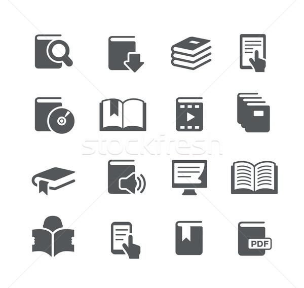 Livre icônes utilitaire vecteur numérique imprimer Photo stock © Palsur