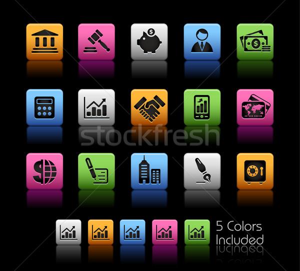 üzlet pénzügy szín doboz eps akta Stock fotó © Palsur