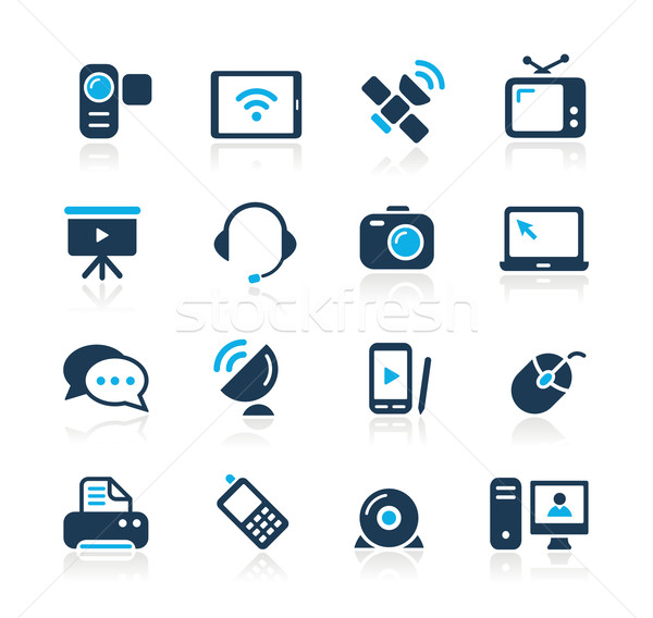 Communication Icons  // Azure Series Stock photo © Palsur
