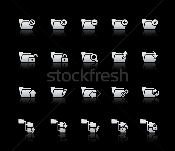 Folder Icons - Set 1 -- Silver Series Stock photo © Palsur