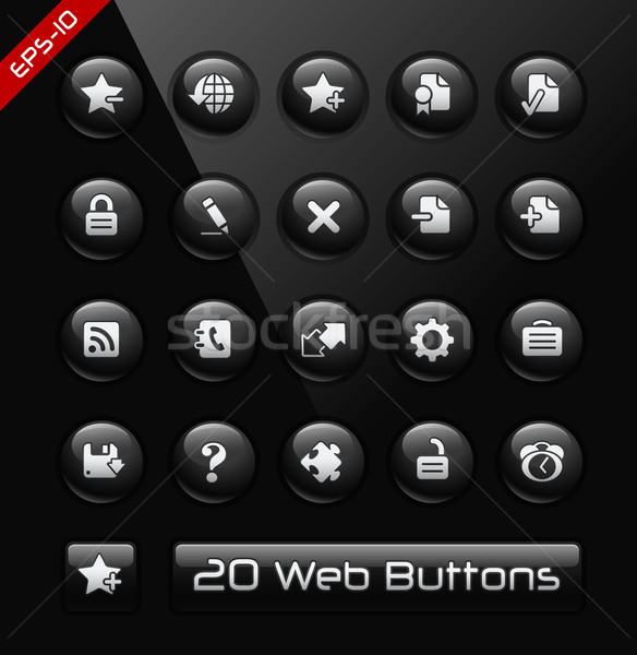 Icons for Web Sites & Software Developers // Black Label Series Stock photo © Palsur