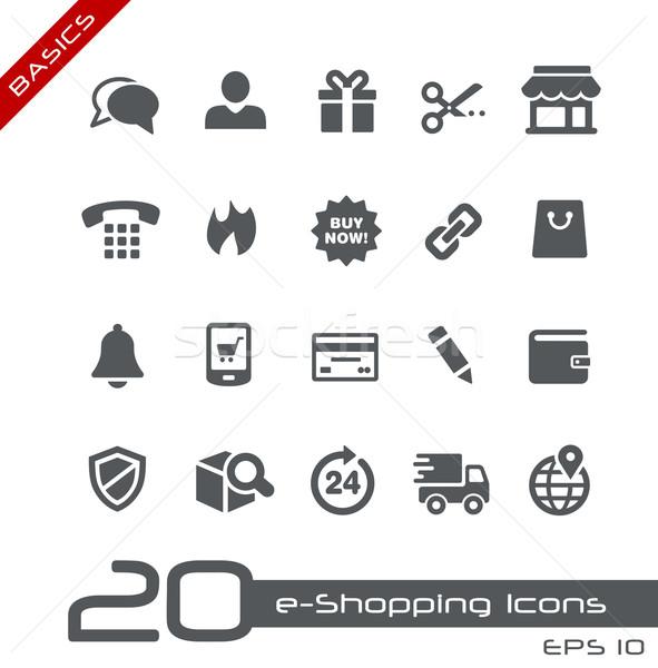 e-Shopping Icons // Basics Stock photo © Palsur