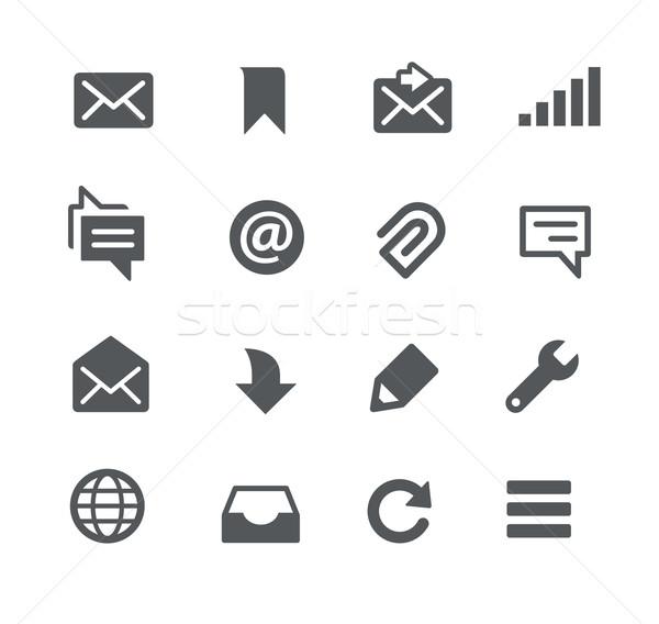 Stock fotó: üzenetek · appok · interfész · vektor · ikonok · háló
