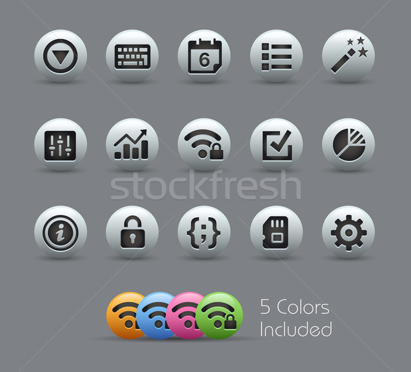 Stockfoto: Interface · vector · bestand · kleur · icon