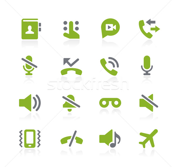 Phone Calls Interface Icons // Natura Series Stock photo © Palsur