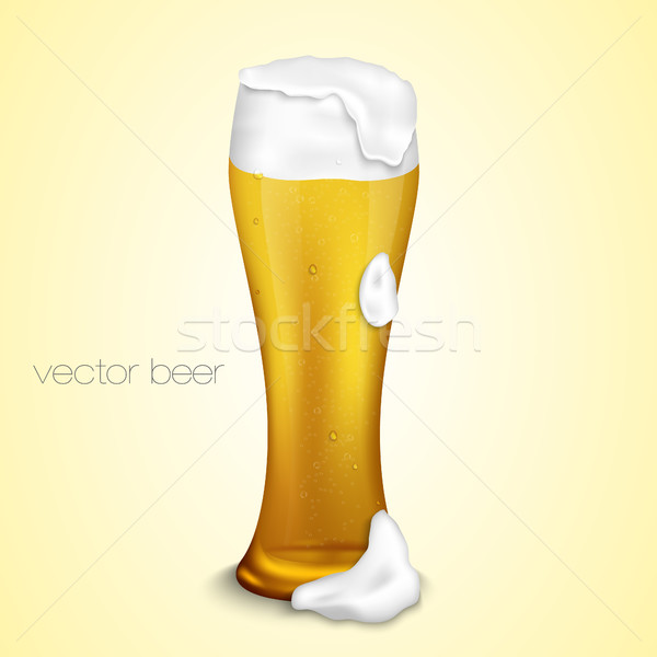 Beer. A glass of beer on white background. Stock photo © Panaceadoll