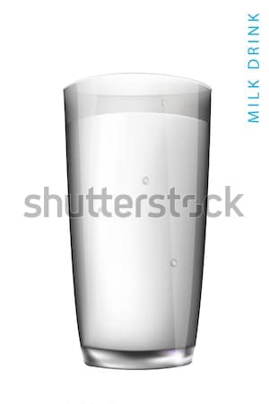 water in a glass isolated on white background Stock photo © Panaceadoll