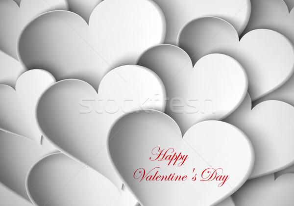 Palloncini cuori carta san valentino cuore design Foto d'archivio © Panaceadoll