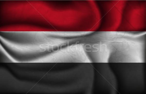 Hullám vidék zászló árnyékok világ Afrika Stock fotó © Panaceadoll