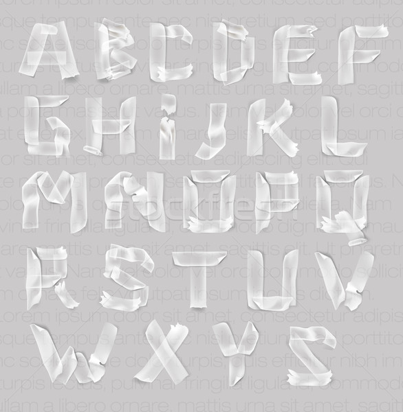 set of letters of the alphabet of adhesive transparent tape Stock photo © Panaceadoll