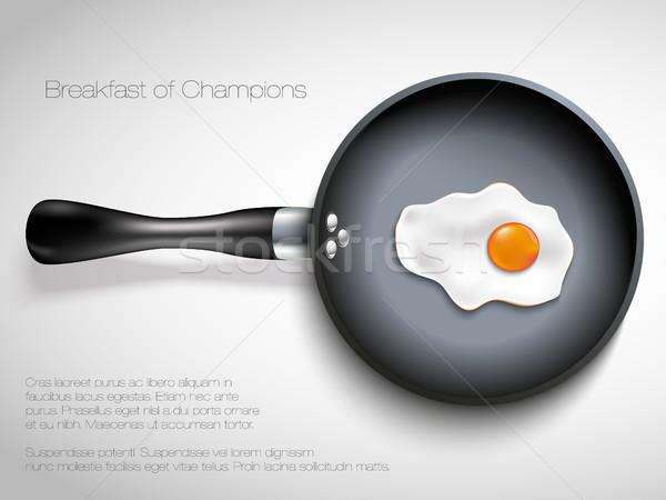 Serpenyő tojás húsvét térkép otthon tyúk Stock fotó © Panaceadoll