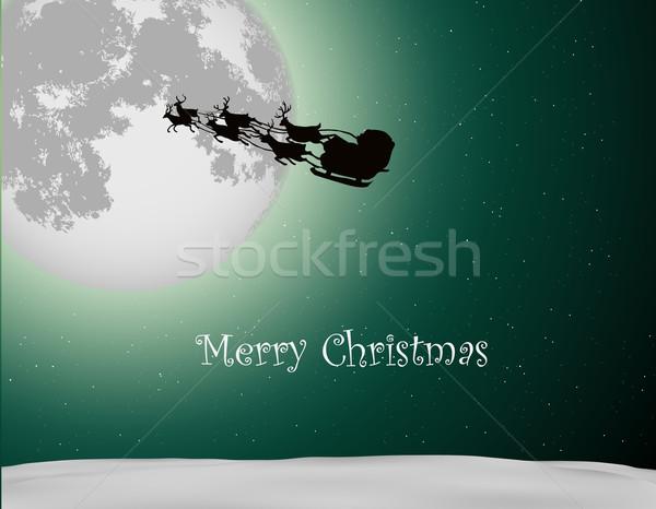 Papai noel dom árvore de natal comida sorrir feliz Foto stock © Panaceadoll