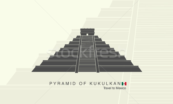 Mayan pyramid of Kukulkan in Mexico Stock photo © Panaceadoll