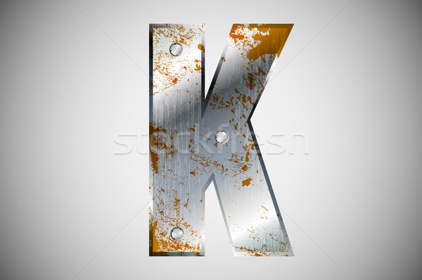 металл письма алфавит технологий знак промышленных Сток-фото © Panaceadoll