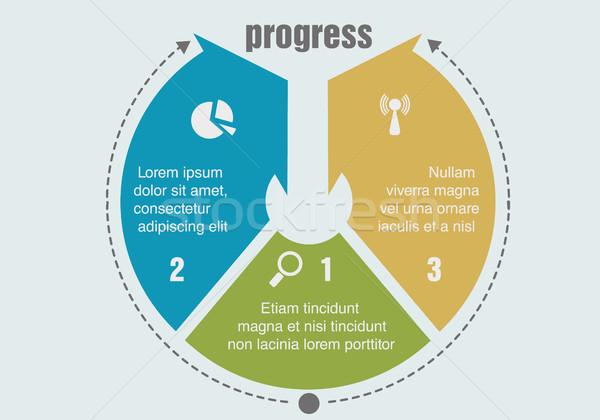один два три прогресс шаги аннотация Сток-фото © Panaceadoll