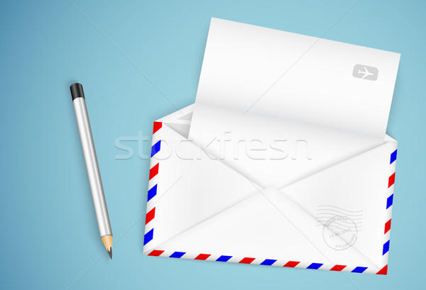 old postal envelope Stock photo © Panaceadoll