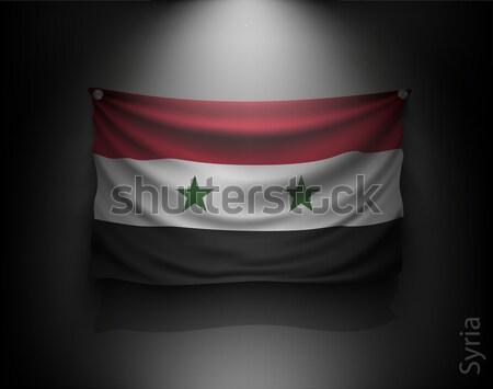 フラグ 暗い 壁 スポットライト ストックフォト © Panaceadoll