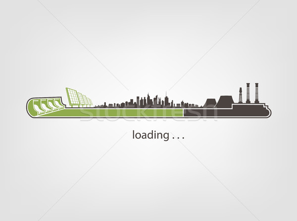 Stock photo: Icon download from mills and factories against renewable energy