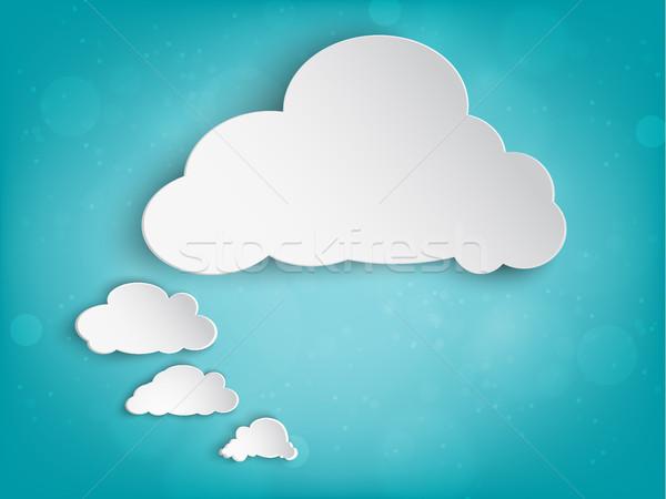 Papel nuvem sol texto abstrato projeto Foto stock © Panaceadoll