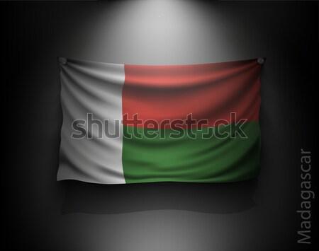 Vlag donkere muur spotlight verlicht Stockfoto © Panaceadoll