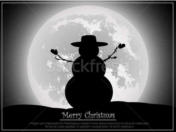 Silhueta natal lua feliz bola estrela Foto stock © Panaceadoll