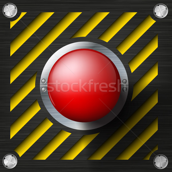 Red alarm shiny button on a tech beckground Stock photo © Panaceadoll