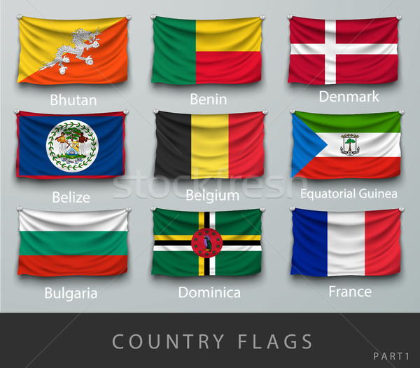 wave country flag with shadows and screws Stock photo © Panaceadoll