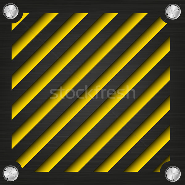 Textured metal surface with the screws on the bright striped background Stock photo © Panaceadoll