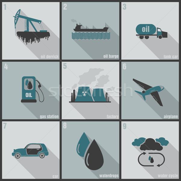 インフォグラフィック 汚染 人間 活動 水 ツリー ストックフォト © Panaceadoll