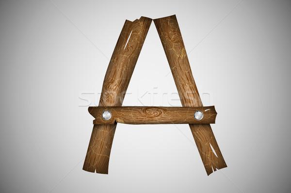 Houten alfabet brief textuur boom hout Stockfoto © Panaceadoll
