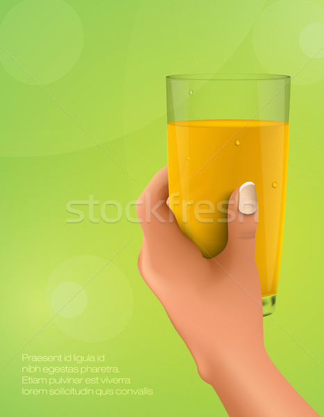 hand holding a glass of citrus juice Stock photo © Panaceadoll