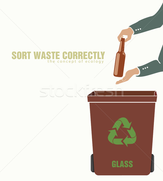 sorting glass, pollution of environment Stock photo © Panaceadoll