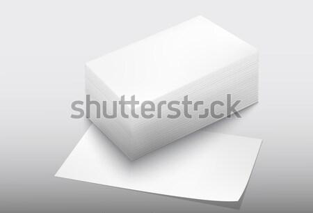 ストックフォト: ピース · 引き裂かれた紙 · 光 · 紙 · ストレス · データ