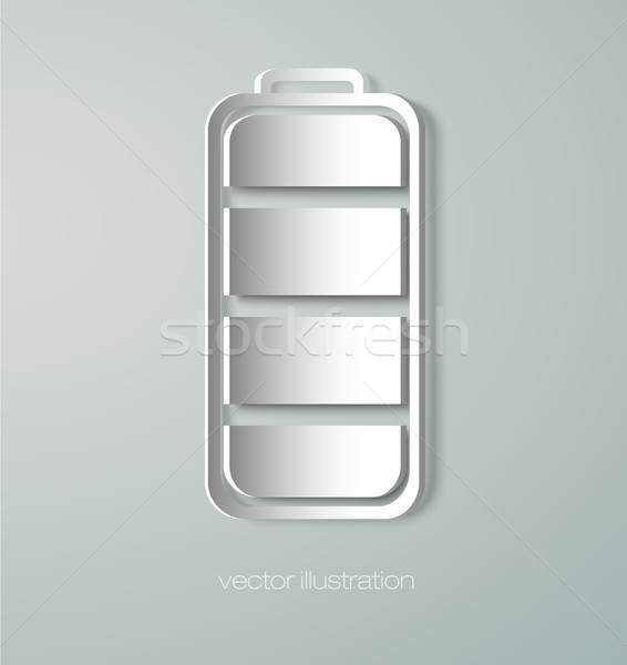 Paper battery icon Stock photo © Panaceadoll