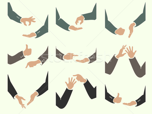 actions of hand movements Stock photo © Panaceadoll